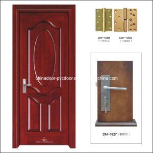 (PVC-M-017) Traditional Fir Frame Room Door Interior PVC Door