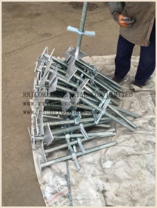 Galvanized Scaffolding Screw Jack with Base Plate pictures & photos