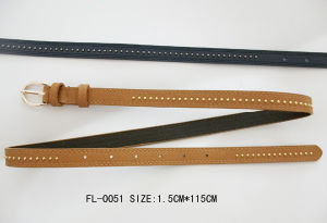 Ladies Skinny Belt with Gold Stud (FL-0051) pictures & photos
