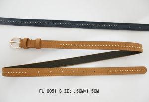 Ladies Skinny Belt with Gold Stud (FL-0051)