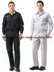 Custom Men′s Work Clothes, Long Sleeve Workwear (LA-05) pictures & photos