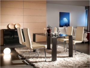 Modern Dining Room Furniture Glass Dining Table (WLF-DT042)