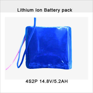 Rechargeable 14.8V 5200mAh Lithium-Ion Battery Pack pictures & photos