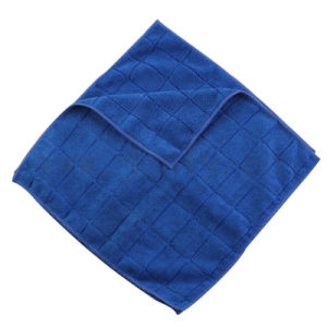 Blue Plaid Microfiber Cleaning Cloth Towel pictures & photos