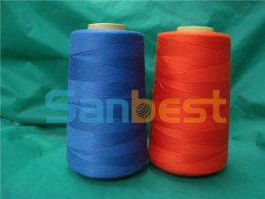 100% Colorful Spun Meta-Aramid Fire-Retardant Sewing Thread pictures & photos