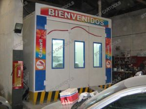 Industrial Used Paint Booth Economy Model with CE Marked pictures & photos