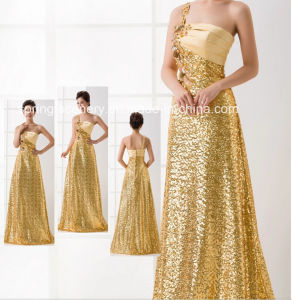 Golden! Wedding Dress-Flower Girl Dress-Evening Dress (D-045)