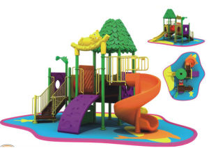 Outdoor Plastic Playground Equipment (ZY-1408)
