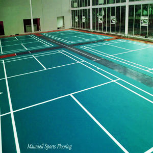 Badminton PVC Sport Floor with Bwf Standard pictures & photos