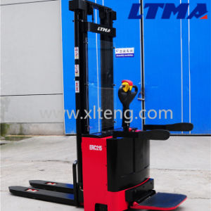 Warehouse Equipment Lifting Instrument Battery 1.6 Ton Electric Pallet Stacker pictures & photos