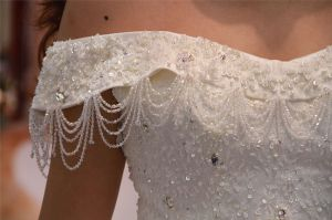 off Shoulder Long Train Bridal Wedding Gowns Ladies Dress pictures & photos