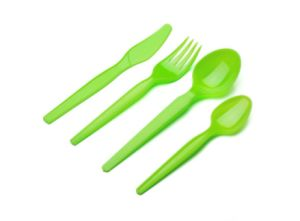 Jx132 Golden Disposable Plastic Cutlery pictures & photos