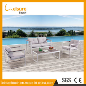 Made in China Outdoor Patio Furniture Love Seat Plastic Wood Table and Chair Sofa pictures & photos
