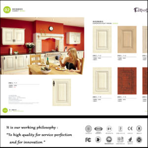 American Style PVC MDF Wood Kitchen Cabinet Door (FY061) pictures & photos