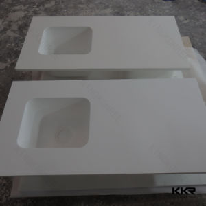 Acrylic Solid Surface Kitchen Countertop with Two Bowl pictures & photos