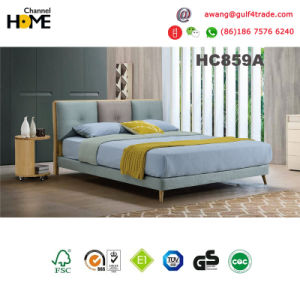 Cheap! ! ! Wooden Bedroom Fabric Bed (HC859) pictures & photos