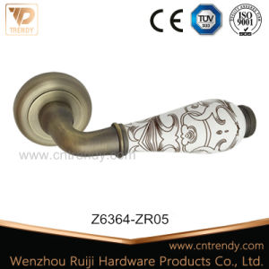 Latest Bathroom Zinc Furniture Door Lock Handle on Rose (Z6361-ZR23) pictures & photos