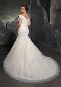 off Shoulder Bridal Gowns Plus Size Lace Appliques Custom Wedding Dress Lb3234 pictures & photos