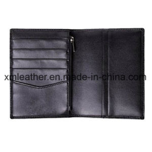 Leather Passport Holder Case Travel Wallet with Zipper Closure pictures & photos