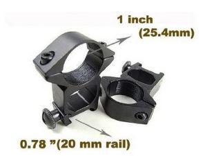 """2X Rifle Scope Mounts 1"""" Diameter Fit 20mm Weaver Rail pictures & photos"""