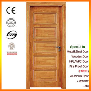 Finished PU Painting Thailand Oak Finger Jointed Wood Door pictures & photos