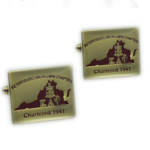 Customized Iron Material Gold Printed Commerative Cuff Link pictures & photos