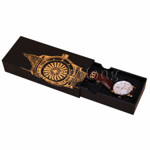 Handmade Featured Sliding Drawer Paperboard Watch Box Custom pictures & photos