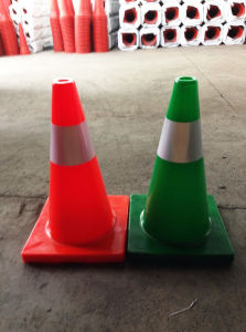 18inch Flexible Reflective Bright Orange PVC Traffic Cone (CC-A45) pictures & photos