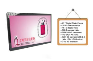"Guangdong Supplier Mirror Frame A2 Digital Picture Frame 27"" (MW-271DPF) pictures & photos"