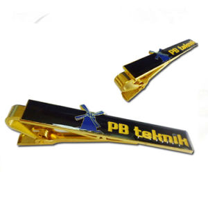 Customized Gold Plated Soft Enamel Tie Clip with Epoxy pictures & photos