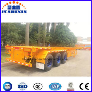Skeletal Container Transport Semi Trailer Chassis for Sale pictures & photos