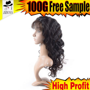 Convenient Use of 10A Brazilian Front Lace Wig Loose Wave pictures & photos