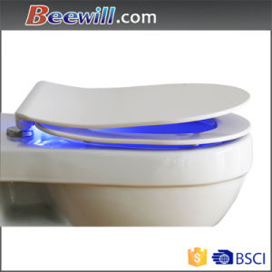 Decorative Urea Soft Close Slim LED Light Toilet Bidet pictures & photos