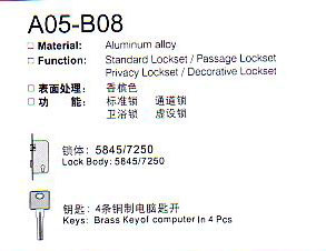 A05-B08 Aluminium Alloy Door Lock Series pictures & photos