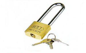 Haevy Duty Brass Padlock with Long Shackle, Furniture Lock pictures & photos