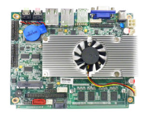 3.5 Inch Mini Network Motherboard with Intel Atom D525 Processor pictures & photos