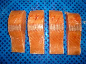 Frozen Chum Salmon Fillets Portion, Pacific Salmon, Pink Salmon
