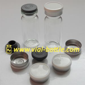 20mm White Serum Vial Seals with Gray Butyl Rubber Stoppers for 10ml Clear Serum Vials pictures & photos