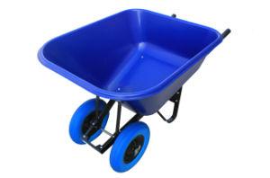 10CBF Big Poly Tray Wheelbarrow (WB9600D) pictures & photos