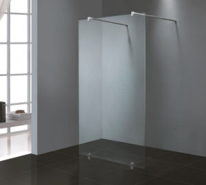 Bathroom 8mm Glass Chrome Frame Fixed Shower Screen Manufacturer pictures & photos