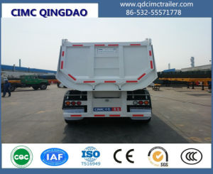 Cimc Good Quality 3 Axle Tipper Semi Trailer From Special Vehicles Truck Chassis pictures & photos
