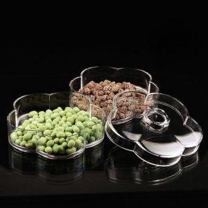 Professional Custom Creative Double Lattice Acrylic Fruit Tray pictures & photos