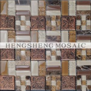 china living room decorative crystal glass mosaic wall tiles ks354