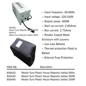 High Technology Grow Light HID Magnetic Ballast pictures & photos