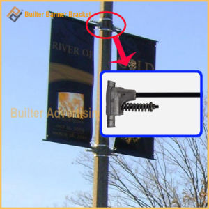 Metal Street Light Pole Advertising Flag Base (BT-BS-026) pictures & photos
