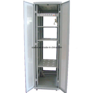 Netwrok Cabinet-Tempered Glass Front Door and Perforatd Back Door (ETSE-B8942)