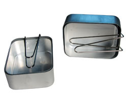 2 Army Camping Aluminium Mess Tins with Folding Handle (CL2C-DJ1813-2) pictures & photos