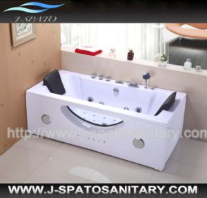 2013 New Luxury Square Glass Skirt Massage Small Bathtub (JS-8659)