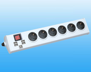 GS and CE Approval Germany Type Sockets with USB Holes (GPBKU06E)