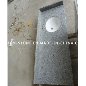 Grey Granite Stone Kitchen Countertop with Ceramic Bathroom Wash Sink pictures & photos
